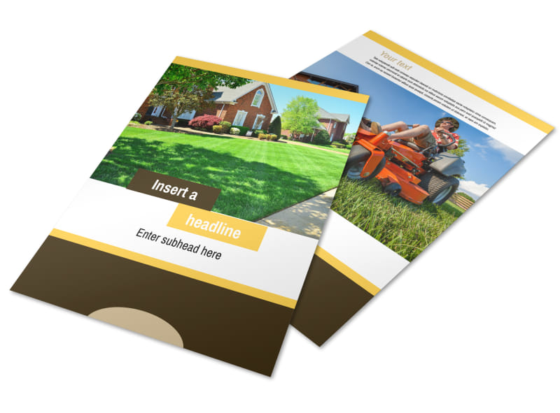 Lawn Care Flyer Template Preview 4