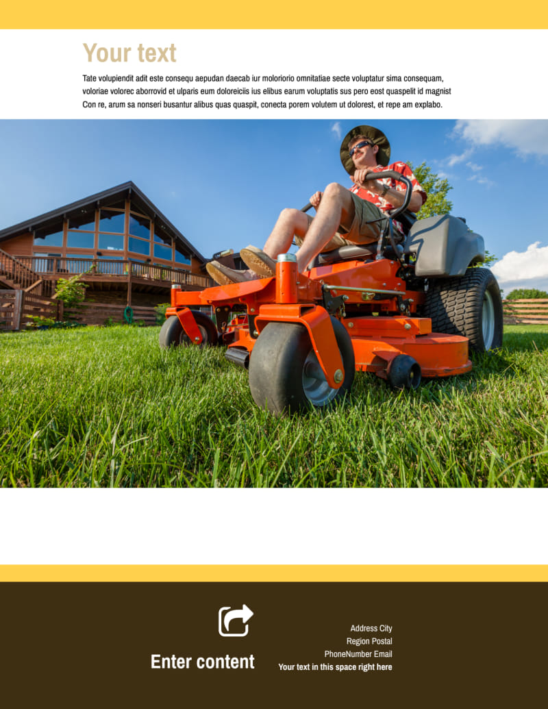 Lawn Care Flyer Template Preview 3