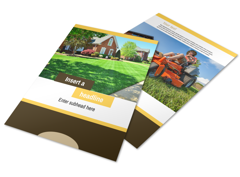 Lawn Care Flyer Template Preview 1