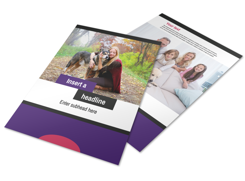 Pet Adoption Flyer Template Preview 1