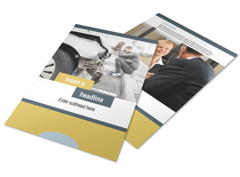 Accident Compensation Lawyer Flyer Template Preview 1