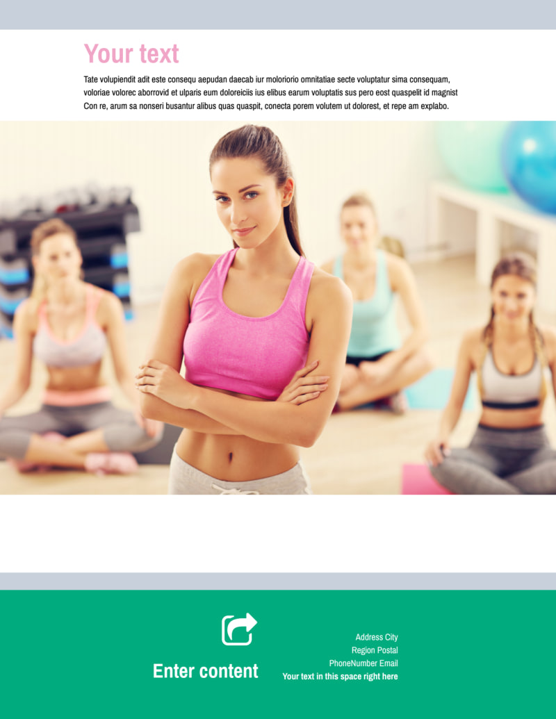 Hot Yoga Class Flyer Template Preview 3
