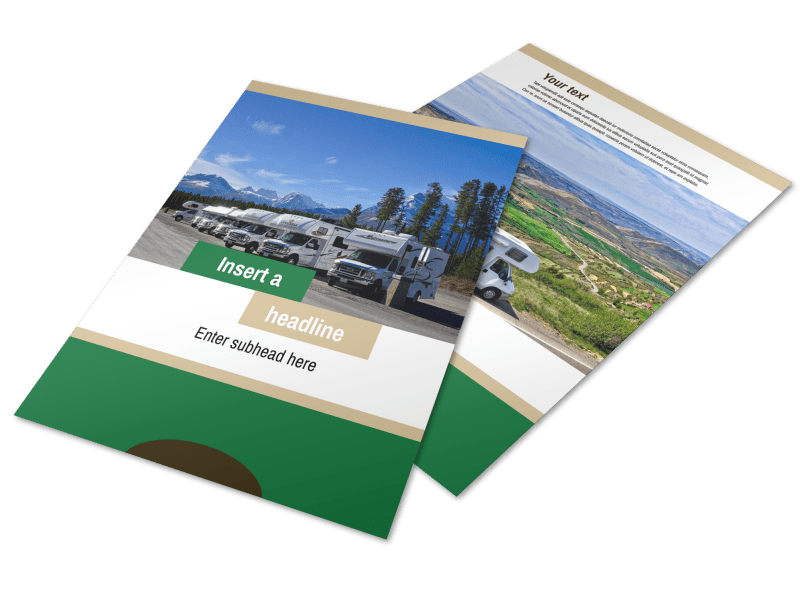 RV Sales Flyer Template Preview 1