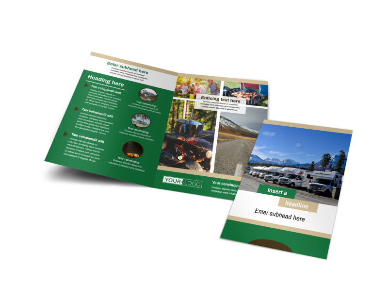 RV Sales Bi-Fold Brochure Template