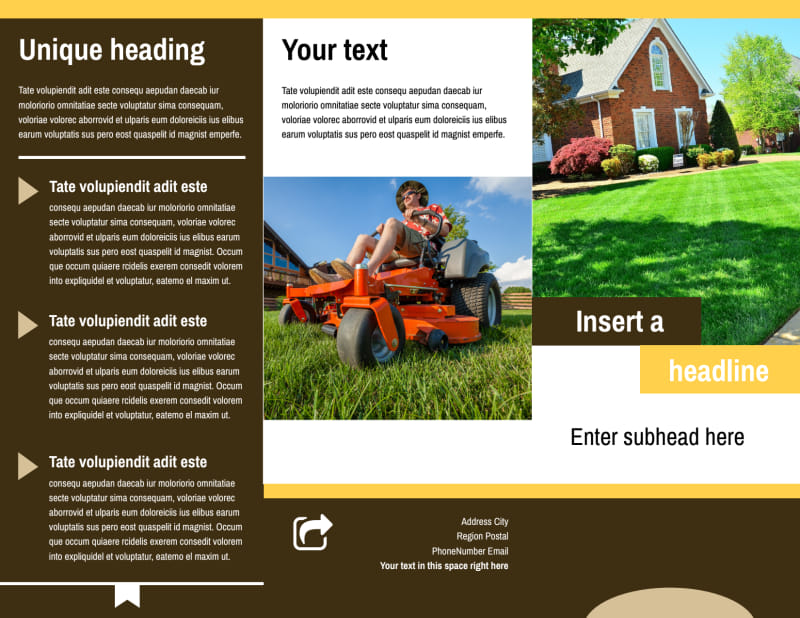 Lawn Care Brochure Template Preview 2