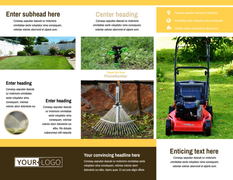 Lawn Care Brochure Template Preview 3