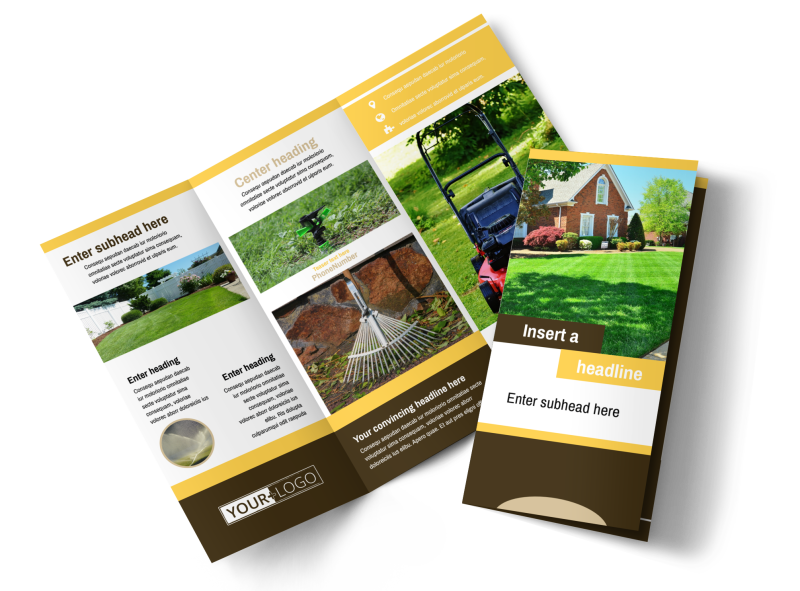 Lawn Care Brochure Template Preview 1