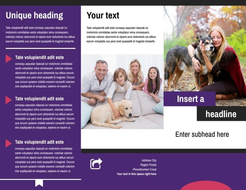 Pet Adoption Brochure Template Preview 2