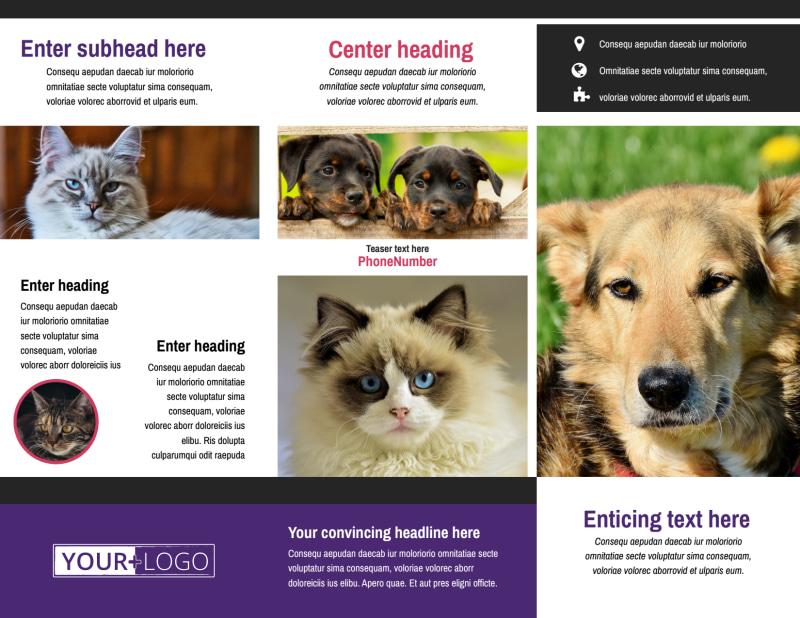 Pet Adoption Brochure Template Preview 3