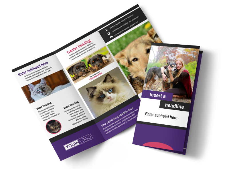 Pet Adoption Brochure Template Preview 1