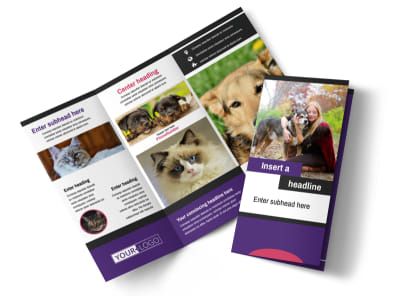 Pet Adoption Tri-Fold Brochure Template preview