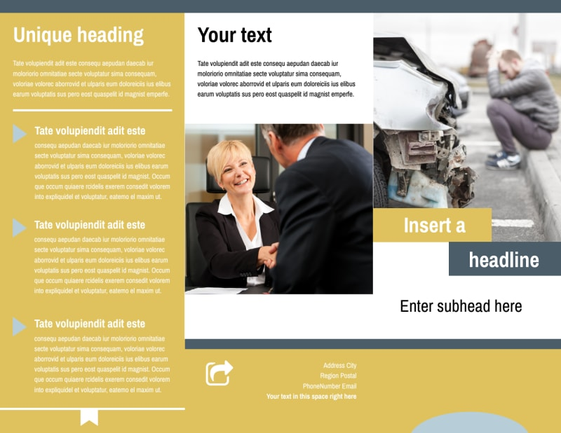 Accident Compensation Lawyer Brochure Template Preview 2