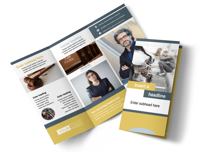 Accident Compensation Lawyer Brochure Template Preview 1