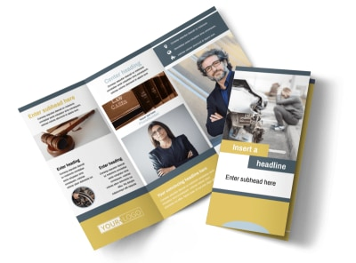 Accident Compensation Lawyer Tri-Fold Brochure Template preview