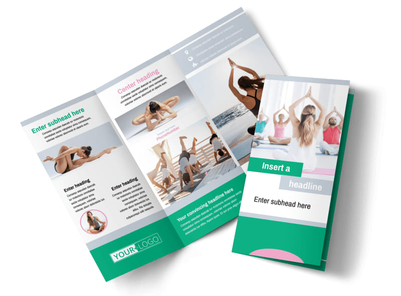 Hot yoga class brochure template mycreativeshop for Yoga brochure templates