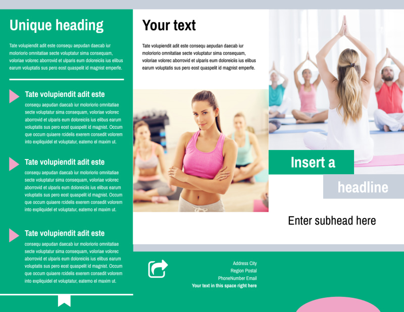 Hot Yoga Class Brochure Template Preview 2