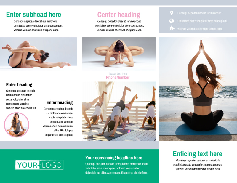 Hot Yoga Class Brochure Template Preview 3