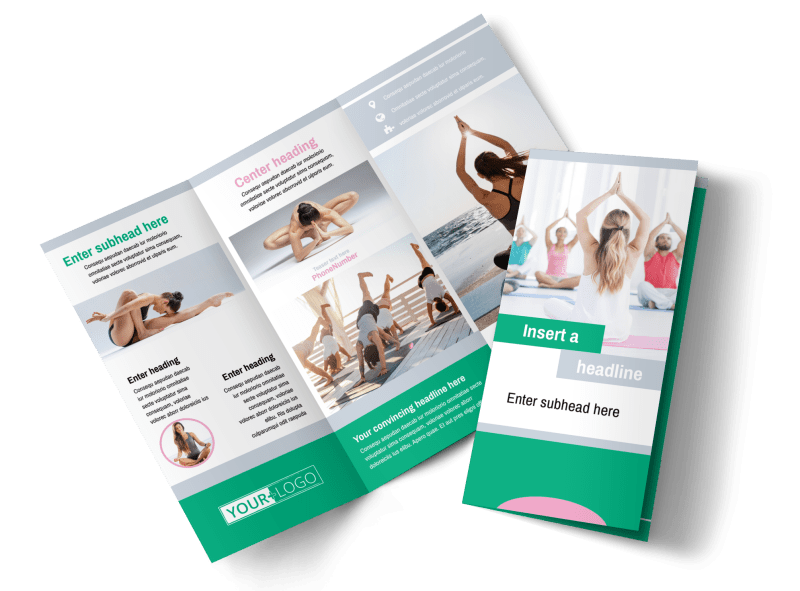 Hot Yoga Class Brochure Template Preview 1