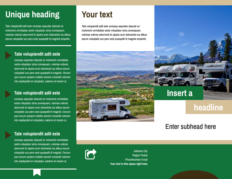 RV Sales Brochure Template Preview 2