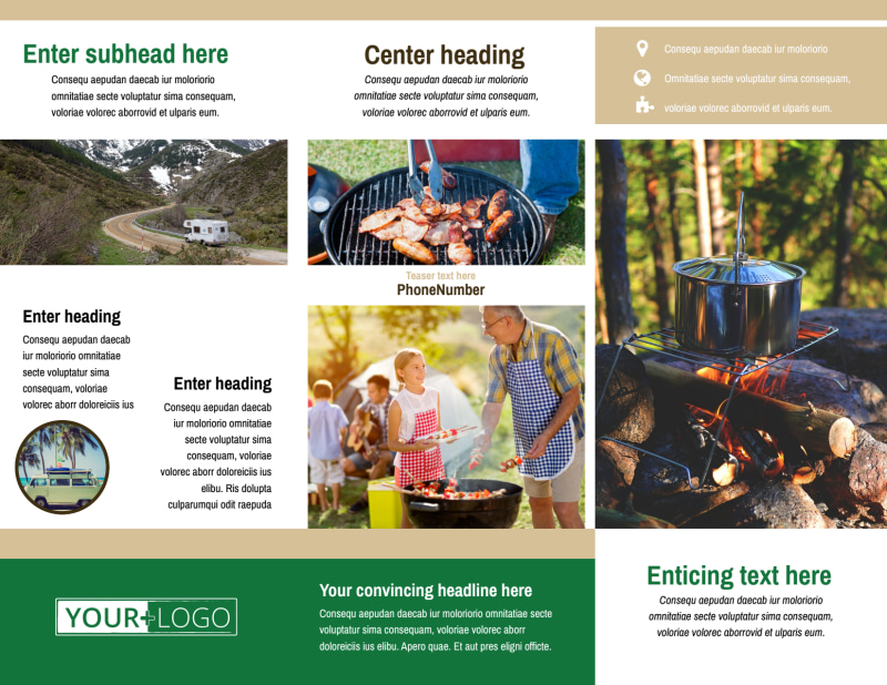 RV Sales Brochure Template Preview 3