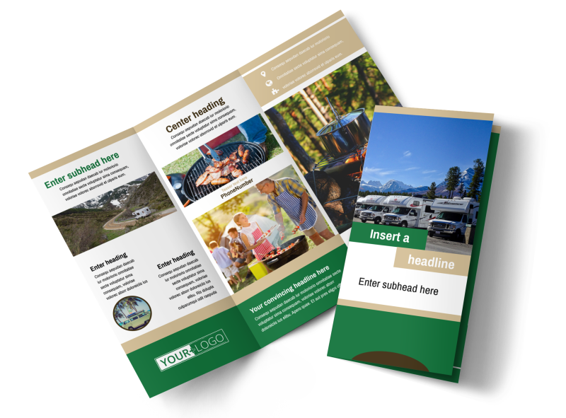 RV Sales Brochure Template Preview 1