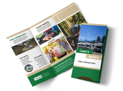 RV Sales Tri-Fold Brochure Template