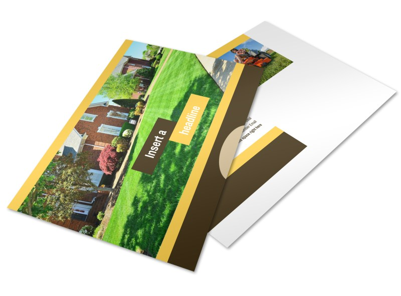 Lawn Maintenance Service Postcard Template