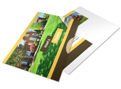 Lawn Maintenance Service Postcard Template preview
