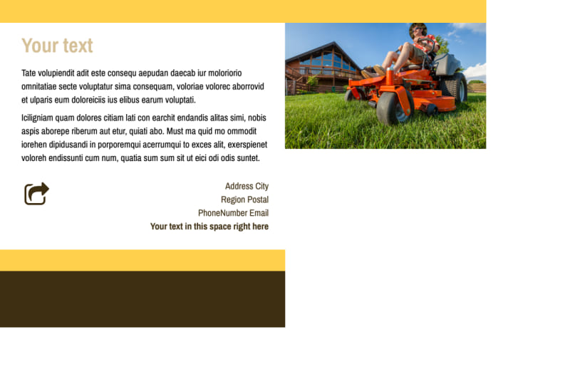 Lawn Care Postcard Template Preview 3