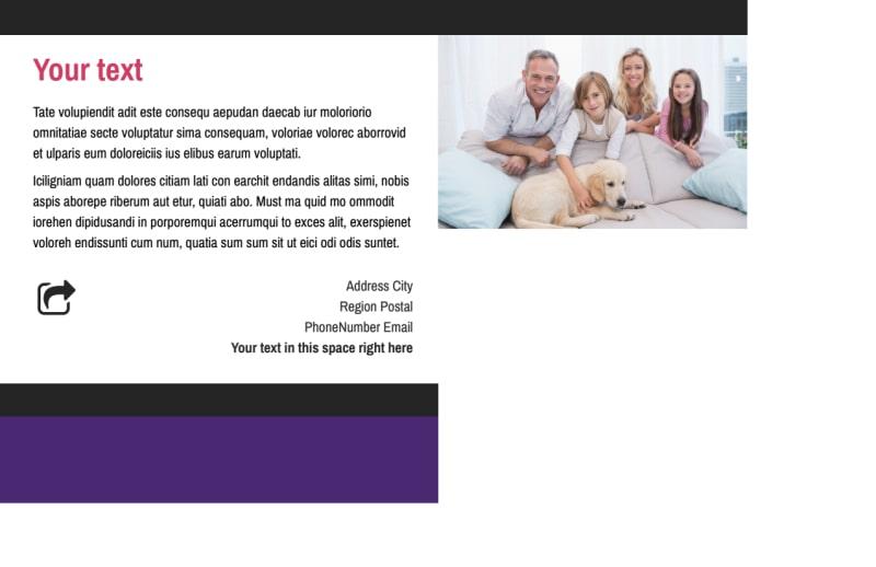 Pet Adoption Postcard Template Preview 3