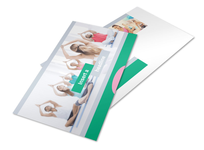 Hot Yoga Class Postcard Template