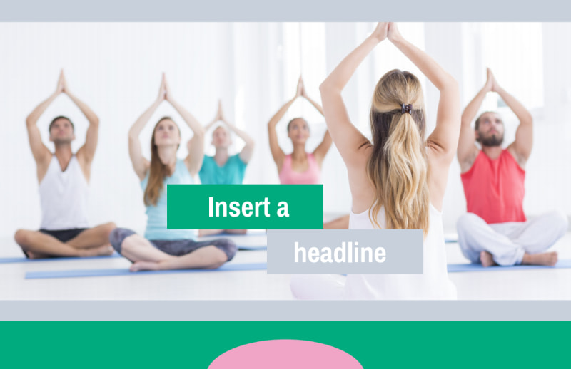 Hot Yoga Class Postcard Template Preview 2