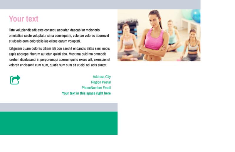 Hot Yoga Class Postcard Template Preview 3