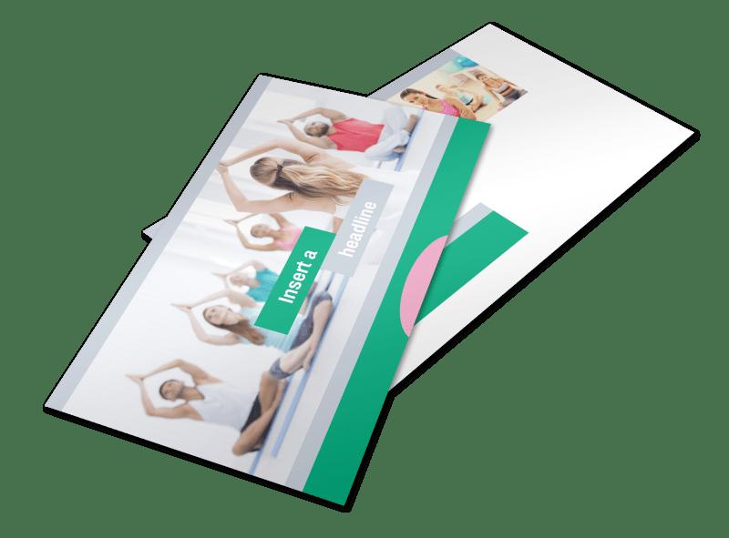 Hot Yoga Class Postcard Template Preview 1