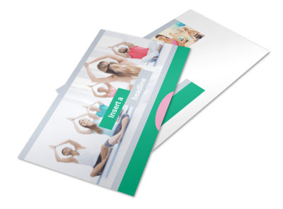 Hot Yoga Class Postcard Template preview