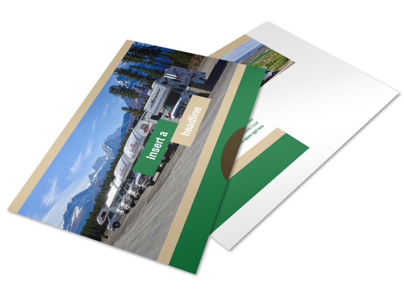 RV Sales Postcard Template