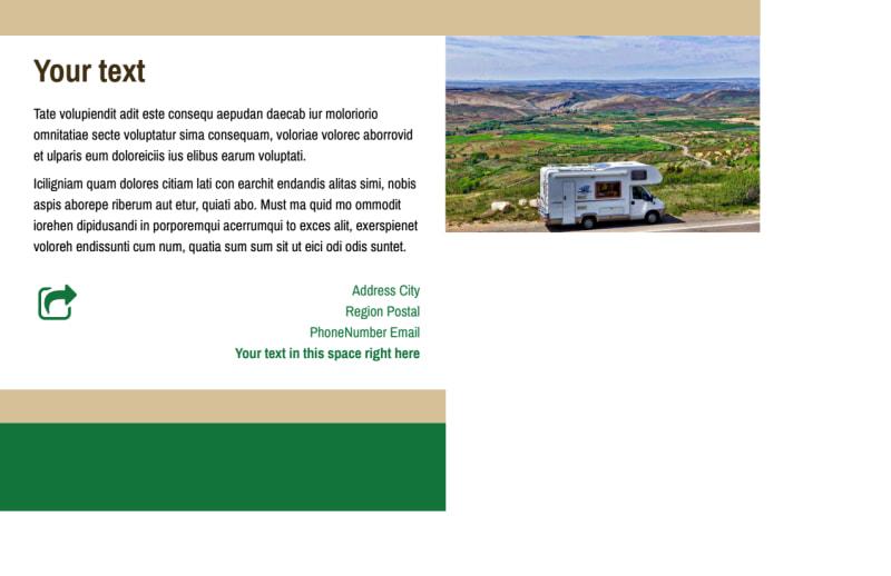 RV Sales Postcard Template Preview 3