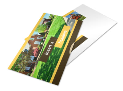Lawn Maintenance Service Postcard Template 2
