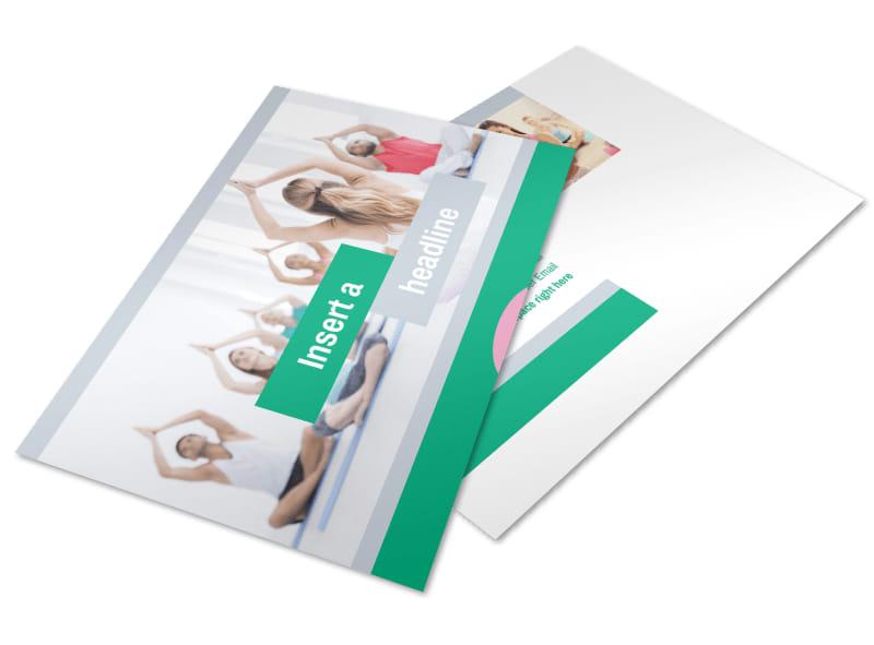 Hot Yoga Class Postcard Template 2