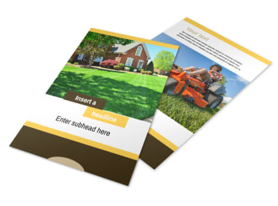 Lawn Maintenance Service Flyer Template 3