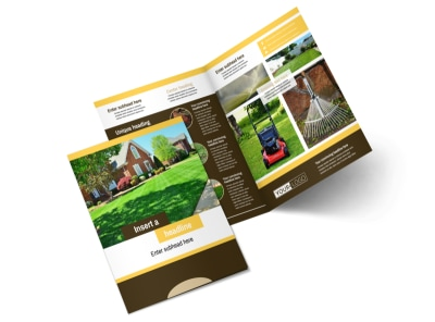 Lawn Maintenance Service Bi-Fold Brochure Template 2 preview