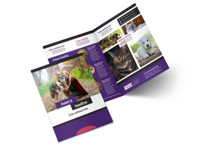 Pet Adoption Bi-Fold Brochure Template 2