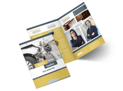 Accident Compensation Lawyer Bi-Fold Brochure Template 2