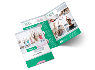 Hot Yoga Class Bi-Fold Brochure Template 2