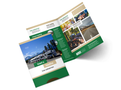 RV Sales Bi-Fold Brochure Template 2