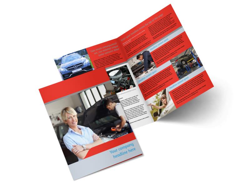 Vehicle Oil Change Bi-Fold Brochure Template 2
