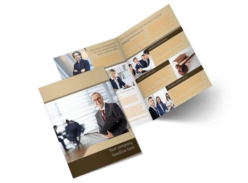 Criminal Law Defense Bi-Fold Brochure Template 2