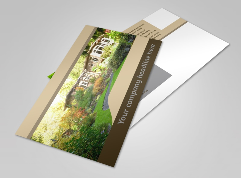 Landscape Design Postcard Template 2