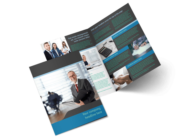 Bookkeeping Bi-Fold Brochure Template 2