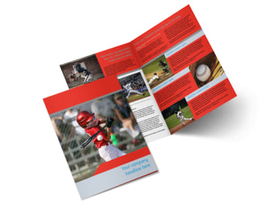Top Swing Baseball Camp Bi-Fold Brochure Template 2